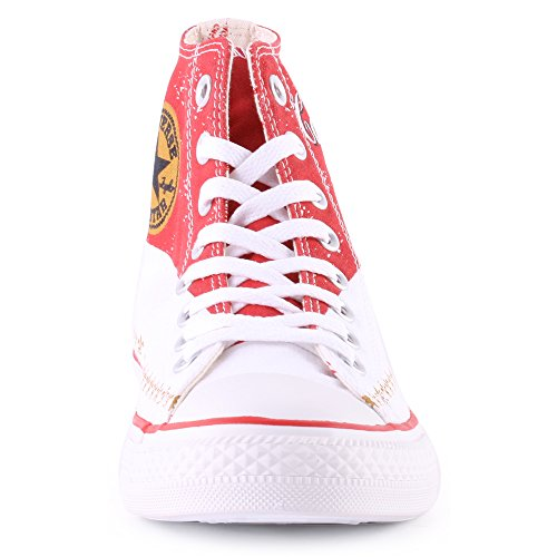 Converse Hightop Rood / Wit