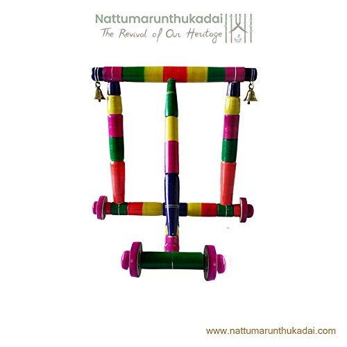 Marutham Wooden Walker - Nadai Vandi Baby Wooden Walker - Nadaivandi Wooden Walker Toodlers for Baby