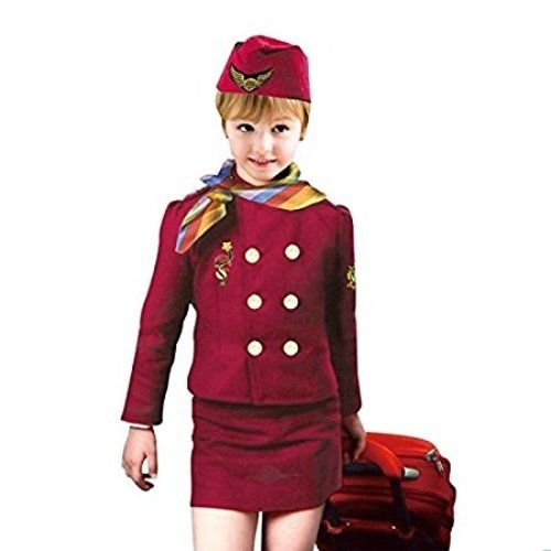 Baby And Blossoms Air Hostess Community Helper Fancy Dress Costume For Kids(4-6Yrs.) -