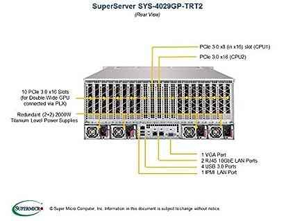 Amazon com: Supermicro SuperServer 4029GP-TRT2 Barebone