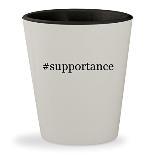 Price comparison product image #supportance - Hashtag White Outer & Black Inner Ceramic 1.5oz Shot Glass