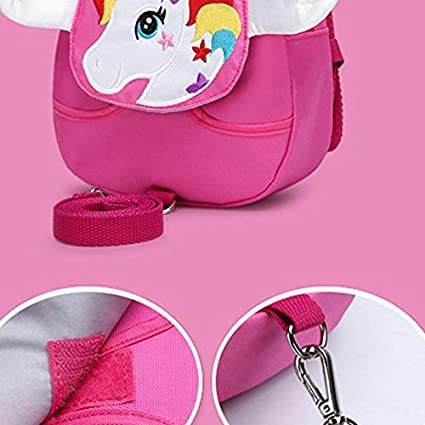 Bledyi Toddler Reins Backpack Girls Horse Backpack School Bag for 1~3 Years Old Kids Cartoon Safety Anti-Lost Strap Rucksack with Reins Backpack for boy