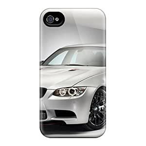 Rugged Skin Case Cover For Iphone 4/4s- Eco-friendly Packaging(bmw M3 Crt)