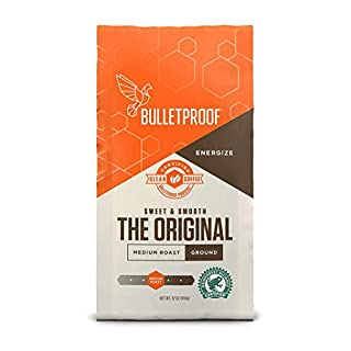 Bulletproof The Original Ground Coffee, Medium Roast, 12 Oz, Keto Friendly, Certified Clean Coffee, Rainforest Alliance, Ground