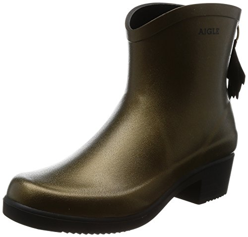 Aigle Womens Miss Juliette Bottillon Rubber Boots Goldbronze