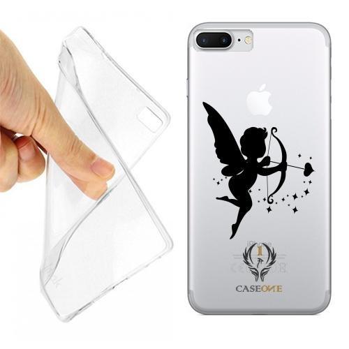 Caseone linea top CUSTODIA COVER CASE CUPIDO BLACK PER IPHONE 7 PLUS TRASPARENTE