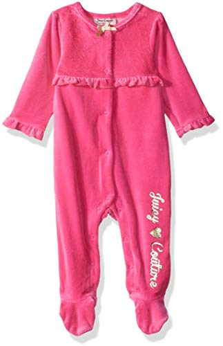 Juicy Couture Baby Girls Coverall-Fashion, Pink Fusion, 3-6 Months