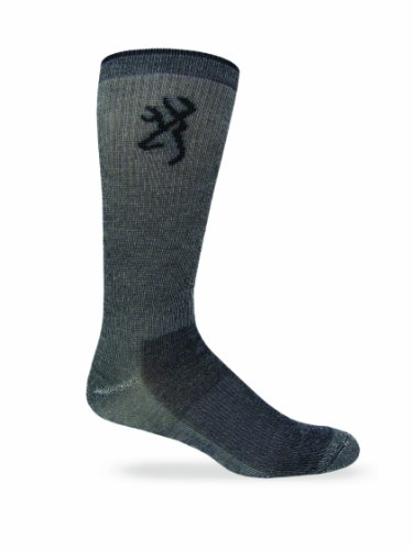 Browning-Hosiery-Mens-Lightweight-Merino-Wool-Crew-Socks-2-Pack