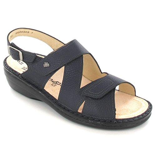 Finn Comfort, jalta, Women's Sandals With Footbed Blue - Nello indigo