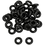 uxcell 50 x Black Nitrile Rubber O Ring Grommets Seal Washer 5mm x 11mm x 3mm