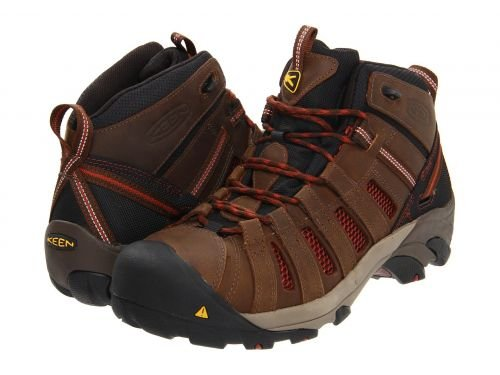 Keen Utility(キーン) メンズ 男性用 シューズ 靴 ブーツ 安全靴 ワーカーブーツ Flint Mid Slate Black/Burnt Henna [並行輸入品] B07BMDM8J8 9.5 EE Wide