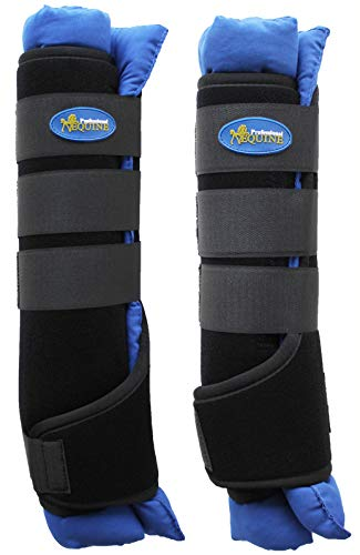 TackRus Horse Stable Shipping Boots Wraps Front Rear 4 PK Leg Care Premium Blue 4120RB by TackRus (Image #1)