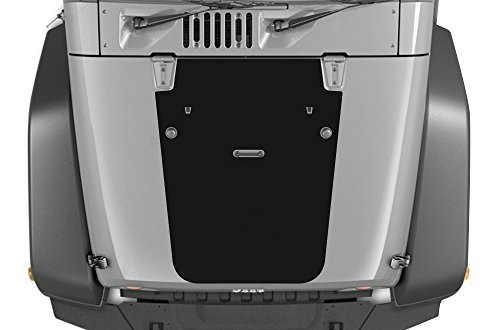 Jeep Wrangler 2007-2016 BLACKOUT Hood Graphics 3M Vinyl Decal Wrap Kit - Matte Black