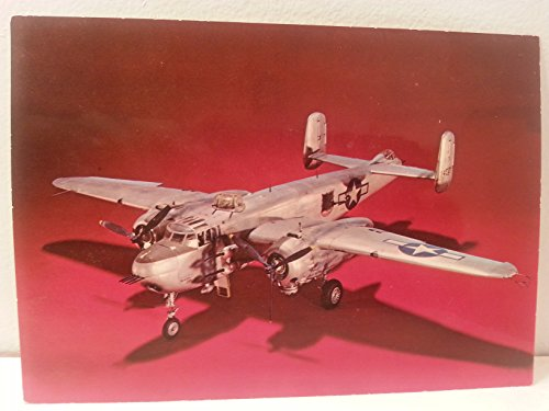 Vintage Air and Space Museum Smithsonian Postcard WWII American B-25 Mitchell Light Bomber Model Postcard ()