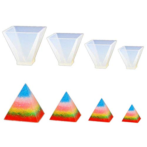 Mold Pyramid Candle - Pyramid Jewelry Clay Silicone Mold, Crafting, Resin Epoxy, Pendant Earrings Making, DIY Mobile Phone Decoration Tools,Semi-Transparent 010029/30/31/32
