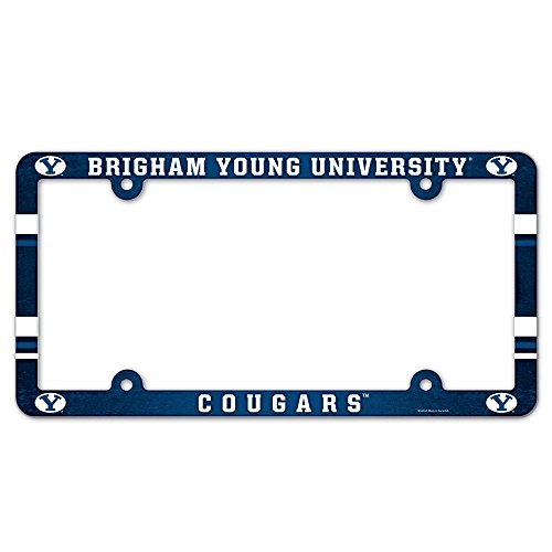 WinCraft NCAA Brigham Young University 96525012 LIC Full Color Plate Frame