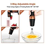 Electric Hand Mixer, Egg Beater Handheld Mixer w/Stainless Steel Egg Whisk, BPA-Free Beater, Drink Mixer Attachment, 2 Speed Rotatable Angle Hand Blender Stick Mixer for Coffee Kitchen