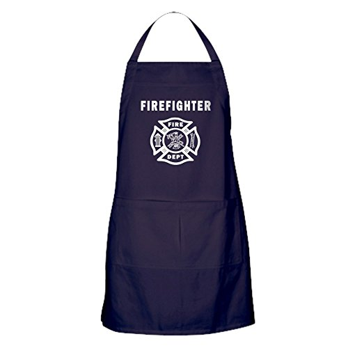 CafePress - Firefighter - Kitchen Apron with Pockets, Grilling Apron, Baking (Firefighter Apron)