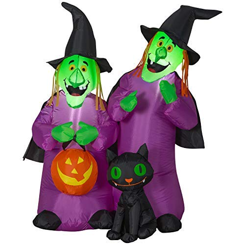 Holiday Living 4-ft x 3.71-ft Lighted Witch Halloween Inflatable -