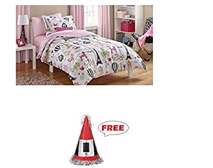 Amazoncom Ms 5pc Bed In A Bag Paris Bed Free Christmas Santa