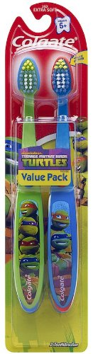 Colgate Enfants Twin Pack Brosse à dents, Ninja Turtles