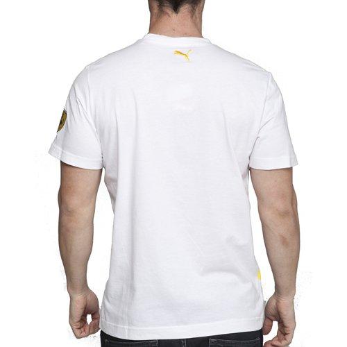 Herren Puma Ferrari Fernando Alsonso Weiß T-Shirt