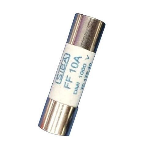 Multimeter 10 X 38Mm 1000V 10A Cylinder Ceramic Fuse White (Copper Wire 8g)