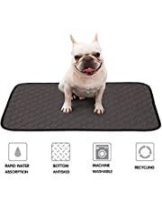 Doglemi Washable Dog Training Pads Fast Absorbing Nappie Pee Pad Reusable Diaper Mats with Waterproof Non-slip Bottom for Puppy Dogs Indoor and Car Travel