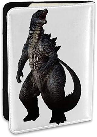 Godzilla ゴジラ モンスター ロゴ パスポートケース メンズ レディース パスポートカバー パスポートバッグ ポーチ 6.5インチ PUレザー スキミング防止 安全な海外旅行用 収納ポケット 名刺 クレジットカード 航空券