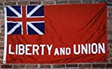 Liberty and Union Taunton Flag Cotton 3×5 ft Banner Clips Embroidered Sewn
