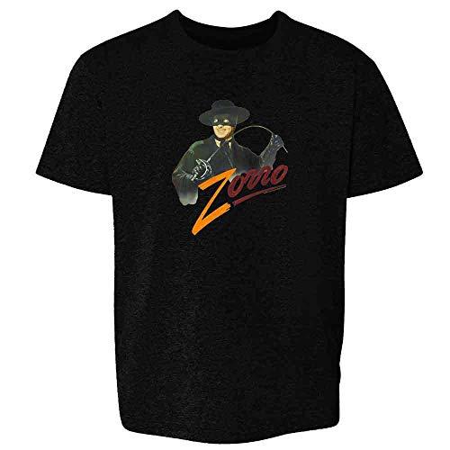 Zorro Tyrone Power Retro Halloween Costume Black XS Youth Kids T-Shirt]()