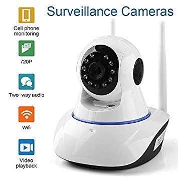 Nextthink Night Vision CCTV Camera with 720p HD Wi-Fi Security Surveillance System (Home Wireless Dome Pan/Tilt with 2-Way Audio) – White Price & Reviews