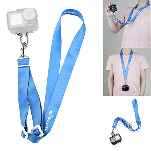 Sodoop 70cm Long Neck Strap Compatible for DJI Osmo Action 4K Camera & More,Detachable Adjustable Necklace Strap Outdoor Lanyard Sling with Quick Release Safety Tether with Storage Bag