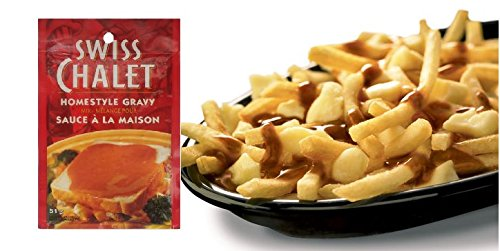 Homestyle Gravy for Poutine By Swiss Chalet | One of Canada's Top Poutine Sauce Brands Delivered to Your Doorstep | Yield up to Three Poutines Per Pouch