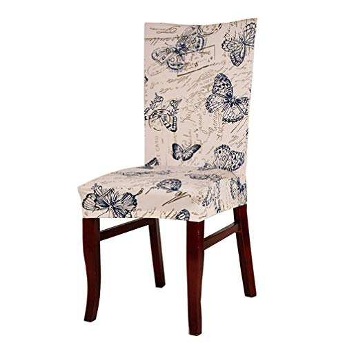 (Drew Toby Dining Chair Covers hot 6pcs/lot Colorful Floral Pastoral Household Elastic Stretch Spandex Polyester Computer Protector Slipcover )