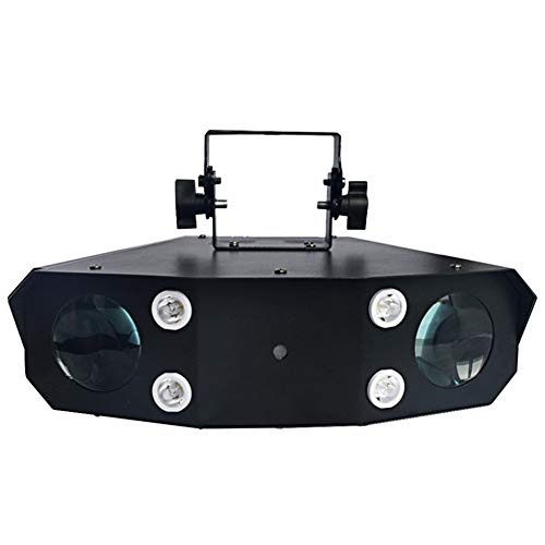 Toran Home Stage Light, Laser Strobe LED Effect DJ Light Two Heads Scan with Laser Effect Disco Light Multi Functional Stage DJ Disco Light (Easy 706 Scan)