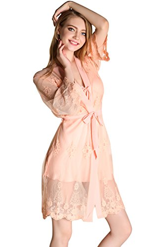 Two Piece Sleepwear Translucent Nightwear Nightgown product image