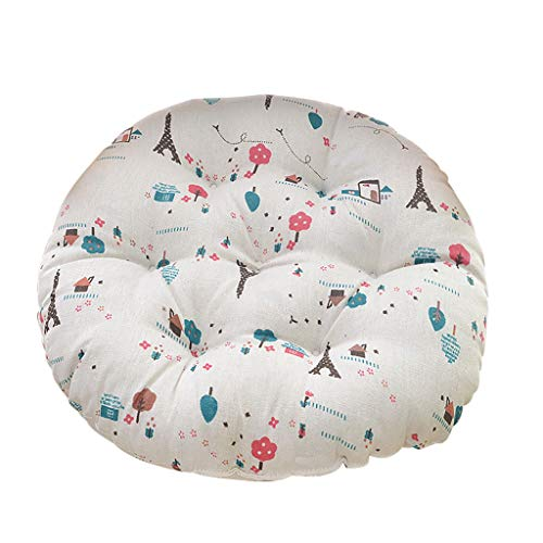 Vcenty Mat Blue Magnolia Flower Cotton Chair Pad,Chair Cushion Round Cotton Upholstery Soft Padded Cushion Pad Office Home Or Car Seat Cushion