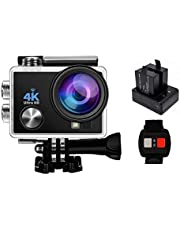 4K Sport Action Camera Ultra HD Wifi Helmet Cam Sony Sensor DV Camcorder With Remote Control and 3 Batteries and  Waterproof Case