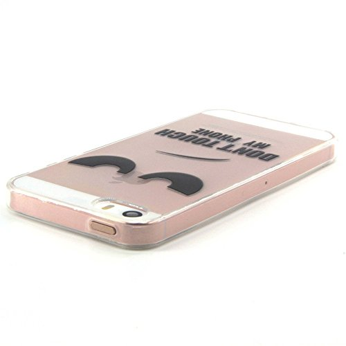 Voguecase® für iPhone SE hülle, Schutzhülle / Case / Cover / Hülle / TPU Gel Skin (my phone) + Gratis Universal Eingabestift