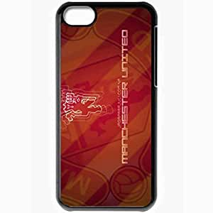Personalized iPhone 5C Cell phone Case/Cover Skin Manchester United Manchester United Black