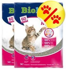 2 x Biokats Micro Fresco 14 l Arena para gatos con Fragancia de verano con fino Tamaño de grano