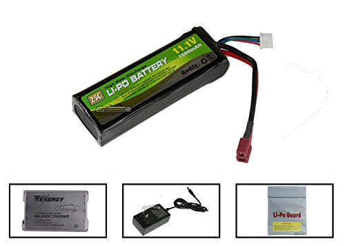 Modify 11.1v 1500mAh Li-Po Battery w/ Deans Plugs (Battery, Charger & Liposack) by Modify