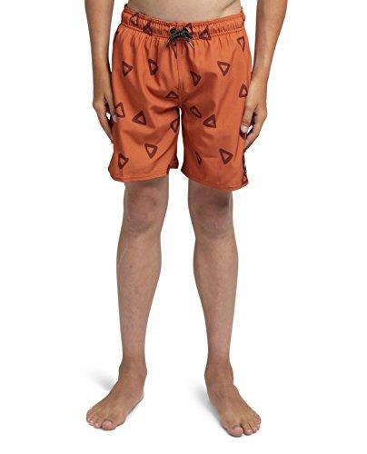 Kove Skipper Swim Trunks Recylced Kids/Boy's Quick Dry 4 Way Stretch Matching Swimsuit 10 Rust ()