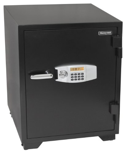 - HONEYWELL - 2118 Steel Fireproof Security Safe with Dual Digital Lock and Key Protection, 3.44-Cubic Feet, Black