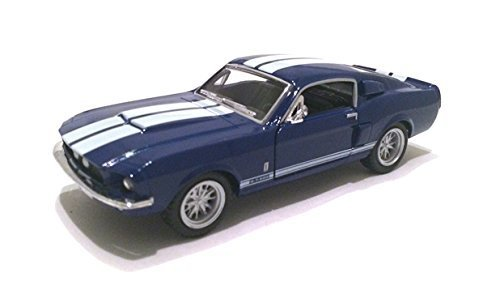Scale 1/38 1967 Ford Shelby Mustang GT-500 diecast car Blue by Kinsmart ()