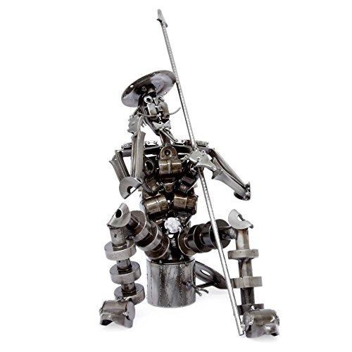 NOVICA Large Metallic Auto Parts Recycled Metal Sculpture, 18