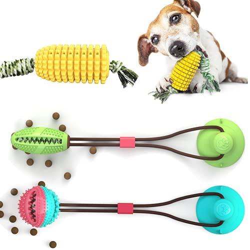 YAGUBLKJ Hundezahnbürste, Pet Molar Chew Spielzeug, Multifunktion Pet Molar Biss Spielzeug, Pet Toy mit Saugnapf…