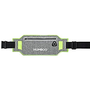 Viihahn Waist Packs Bags Running Belt Ultra Slim Water Resistant Reflective Adjustable Waistband Fit IPhone 7 6s Plus Samsung Outdoor Sports Waist Fanny Packs for Yoga Walking Fishing Hiking Cycling