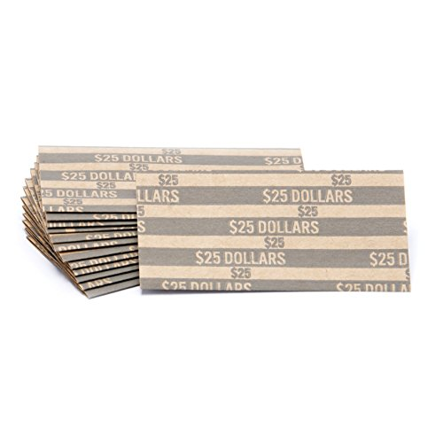 Sacagawea Dollar Flat Striped Coin Wrappers, Bundle of 100 ()